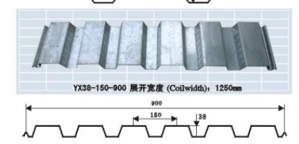 900型开口式钢承板
